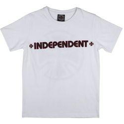 koszulka INDEPENDENT - Bar Cross White (WHITE) rozmiar: 12-14