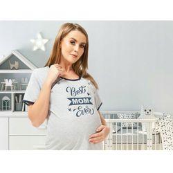 Koszula nocna ciążowa i do karmienia na napy Best Mom - szara