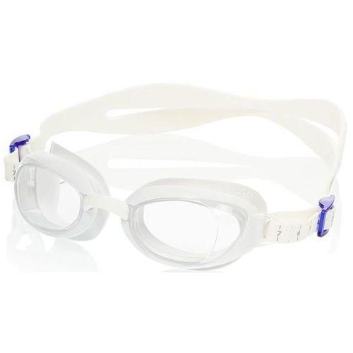 Okularki pływackie, Okulary Speedo Aquapure Female white-clear