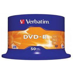 Płyta DVD+R VERBATIM AZO, 4,7GB, prędkość 16x, cake, 50szt., srebrny mat