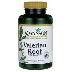 Kozłek lekarski Waleriana Valerian Root 475mg 100 kapsułek SWANSON