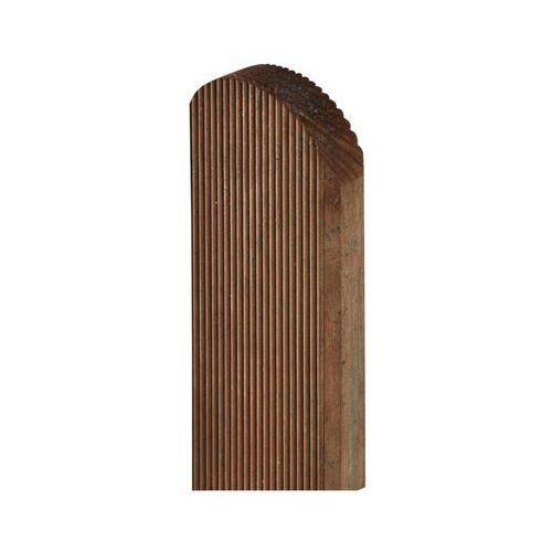 Pozostałe rośliny i hodowla, Sztacheta drewniana 120 x 9 x 2 cm ryflowana brązowa SOBEX