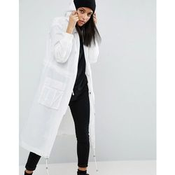 ASOS Rainwear Parka With Mesh Lining - White