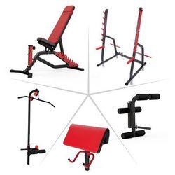 Wielofunkcyjna ławka ze stojakiem Bastet + obciążenia + gryf Insportline