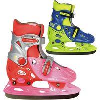 Łyżwy dla dzieci, Dziecięce łyżwy WORKER Kelly - Kolor Różowo-czerwony, Rozmiar XS (29-32)
