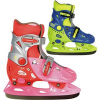 Łyżwy dla dzieci, Dziecięce łyżwy WORKER Kelly, Różowo-czerwony, S (33-36)