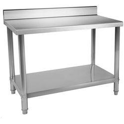 Stół roboczy - 120 x 60 cm - 137 kg - stal nierdzewna - rant