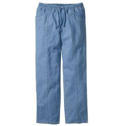 Spodnie z gumką w talii Classic Fit Straight bonprix jasnoniebieski
