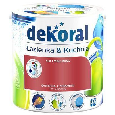 Farba Satynowa Dekoral łazienka I Kuchnia Ognista Czerwień 2 5 L 5904000019046