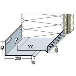 Listwa cokołowa startowa regulowana 200-300mm - profil startowy cokołowy regulowany L=2.5mb gr.1.2mm - pakiet 4 sztuki