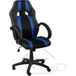 Fotel obrotowy dla gracza, RACEMASTER, niebieskie pasy