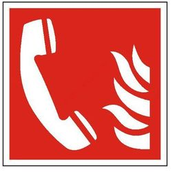 Znak Telefon alarmowania pożarowego PB