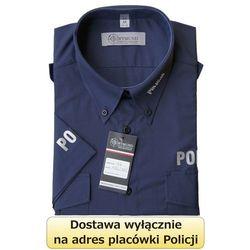 Koszula granatowa Policji z krótkim rękawem - nowy wzór