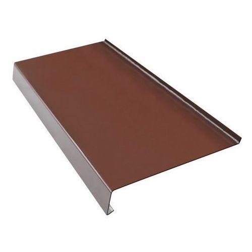 Parapety, Parapet zewnętrzny stalowy Fola 25 x 150 cm brązowy