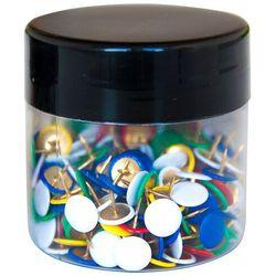 Pinezki klasyczne Q-CONNECT, w szklanym słoiku, 300szt., mix kolorów