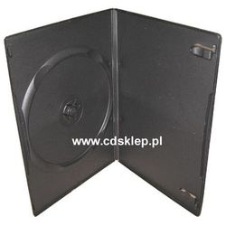 Etui plastikowe na 1DVD SLIM 7mm czarne
