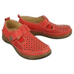COMFORTABEL 941861-4 rot, półbuty letnie damskie - Czerwony