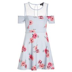 New Look 915 Generation HEIDI FLORAL SCUBA SKATER Sukienka letnia blue