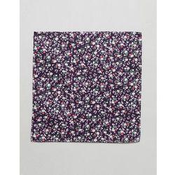 ASOS DESIGN ditsy print floral pocket square in burgundy - Red