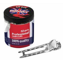 Ronney PROFESSIONAL HAIR CLIP Klipsy fryzjerskie do włosów (50 szt.)