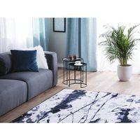 Dywany, Dywan biało-niebieski 160 x 230 cm krótkowłosy IZMIT