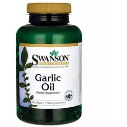 Olejek czosnkowy Garlic Oil 1500mg 500 kapsułek SWANSON