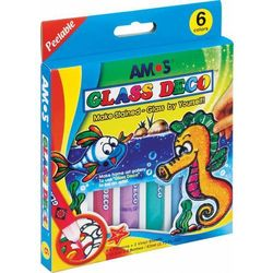Farby witrażowe 10,5 ml X 6 kolorów AMOS - X00562