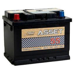 Akumulator ASSET 55Ah 450A EN LEWY PLUS