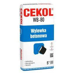 Wylewka betonowa WB-80 5kg CEKOL