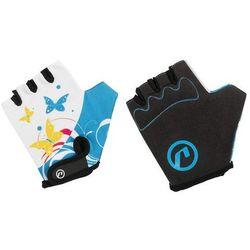 Rękawiczki dziecięce Accent Daisy biało-niebieskie L/XL