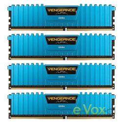 Pamięć DDR4 Corsair Vengeance LPX 16GB (4x4GB) 2666MHz CL16-18-18-35 1.20V XMP 2.0 Blue