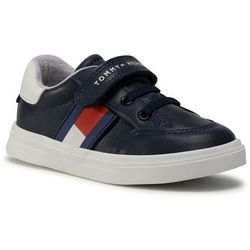 Sneakersy TOMMY HILFIGER - Low Cut Lace T1B4-30702-0622Y004 S Blue/White/Red Y004