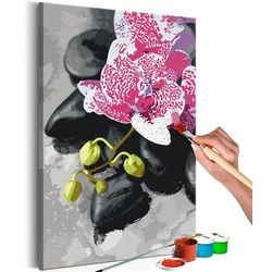 Artgeist Obraz do samodzielnego malowania - różowa orchidea