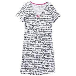 Koszula nocna bonprix biały z nadrukiem