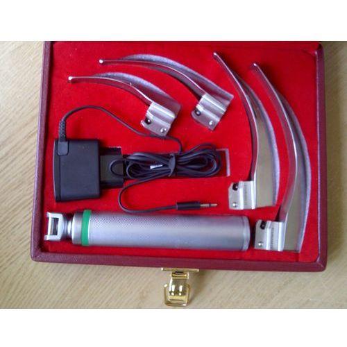 Pozostałe artykuły medyczne, Laryngoskop światłowodowy MacIntosh LUCAS-01 z ładowaniem akumulatorowym, 4 łyżki 1-4