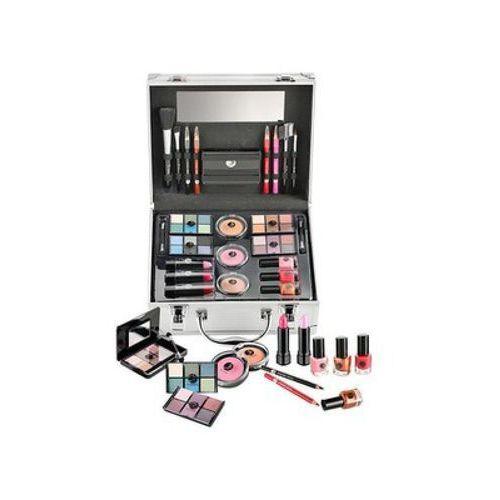 Palety i zestawy do makijażu, 2K All About Beauty Train Case zestaw Complete Makeup Palette dla kobiet