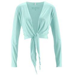 Bolerko shirtowe, długi rękaw bonprix pastelowy miętowy