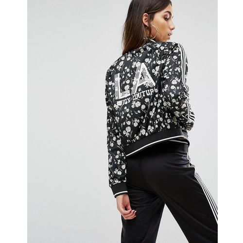 Kurtki damskie, Juicy Couture Black Label Tricot Fullerton Daisy Jacket With Stripe - Black