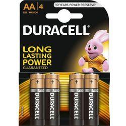 Baterie Alkaliczne typ AA LR6 1,5V (paluszki duże) - 4szt. Duracell
