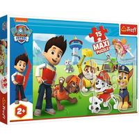 Puzzle, Puzzle 15 elementów Maxi Zabawny Psi Patrol (14336). od 2 lat