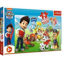 Puzzle 15 elementów Maxi Zabawny Psi Patrol (14336). od 2 lat