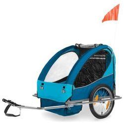 Przyczepka rowerowa przyczepa CE 2 osobowa Niebieska