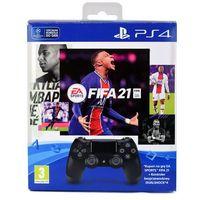 Gamepady, SONY DUALSHOCK 4 V2 KONTROLER + FIFA 21 KOD / WYSYŁKA GRATIS / RATY 0% / TEL. 500 005 235