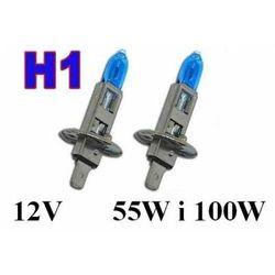Żarówki (2szt.) Samochodowe H1 (12V) Xenon H.I.D. Blue Vision (moc 55W i 100W) - Homologowane.