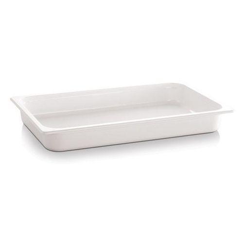 Kosze i pojemniki gastronomiczne, Pojemnik GN 1/2 gł. 6,5 cm z melaminy biały