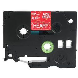 Taśma Brother TZe-MPVC35 12mm x 4m ozdobna czerwone serca biały nadruk - zamiennik| OSZCZĘDZAJ DO 80% - ZADZWOŃ! 730811399
