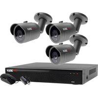 Kamery przemysłowe, Monitoring zestaw do domu placu Rejestrator 5W1 LV-XVR44N-II + 3x Kamera LV-AL30HT