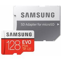 Karty pamięci, Karta pamięci SAMSUNG EVO Plus 128GB MicroSD MB-MC128HA/EU + adapter