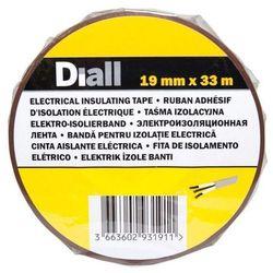 Taśma izolacyjna Diall PCV 19 mm x 33 m brązowa