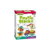 Puzzle, Klocki puzzle 40el. w kartonie 1Y36FF Oferta ważna tylko do 2023-04-03